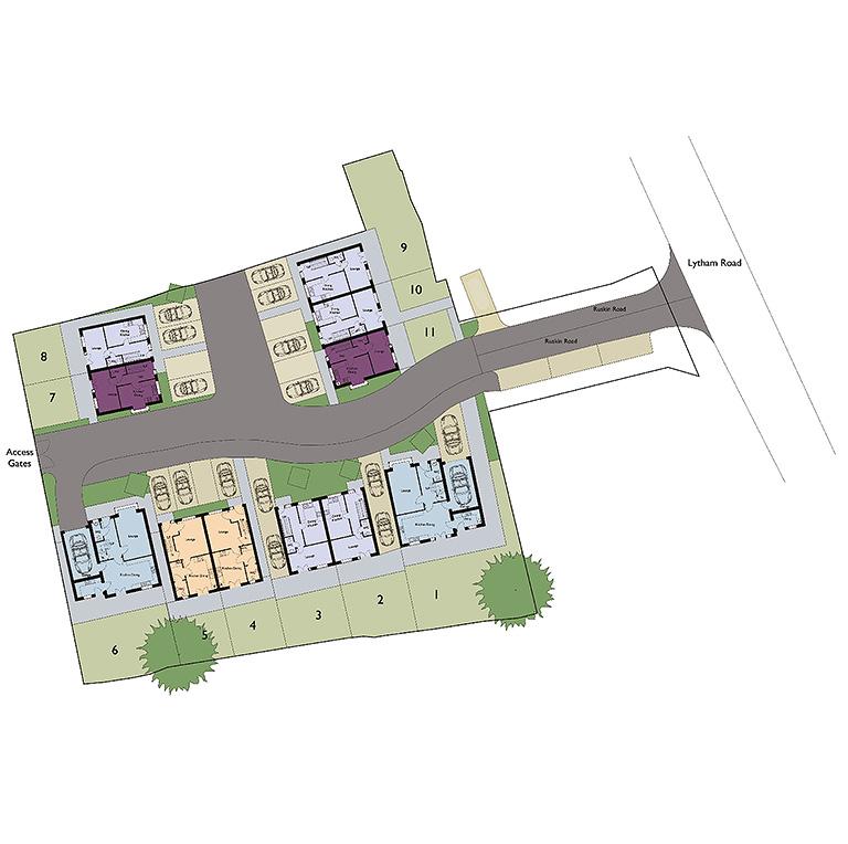 Ruskin Road siteplan